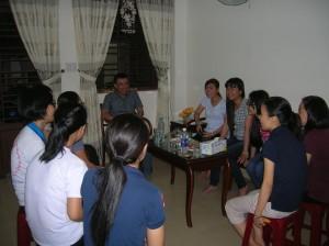 Visite des jeunes catéchistes de la paroisse de Gia Dinh